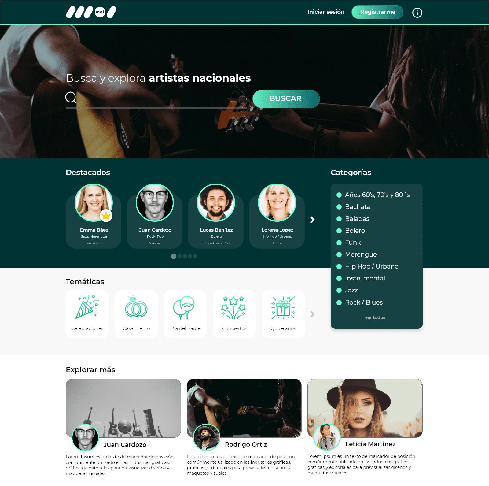 Portada de la versión web